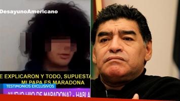 Santiago Lara, joven que reclama la paternidad de Diego Maradona (Foto: web)