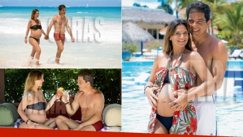 Amalia Granata y Leonardo Squarzon, enamorados en Punta Cana tras la crisis (Foto: revista Caras)
