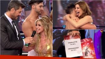 Charlotte Caniggia dio el batacazo y eliminó a la abogada hot en ShowMatch