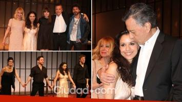 Julieta Ortega debutó en teatro acompañada por Iván Noble y su familia
