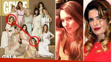 Isabel Macedo, cerca de Pampita en la portada de revista Gente, pero en diferentes momentos. (Foto: revista Gente y Web)