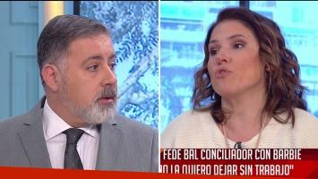La fuerte discusión al aire entre Fabián Doman y Fernanda Iglesias en vivo
