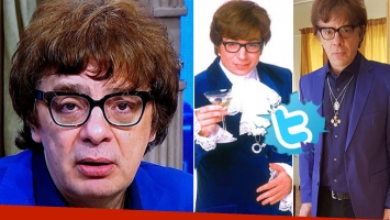 Divertida reacción de Juanse, tras el furor en Twitter por su parecido con Austin Powers