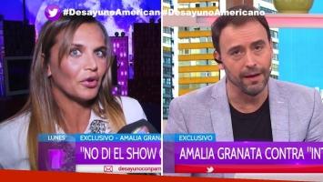 Amalia Granata apuntó contra Intrusos y Adrián Pallares le contestó desde Desayuno americano