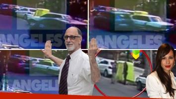 Así fue el choque de Pampita: mirá el video