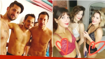 Las fotos sexies de los integrantes de la obra El otro lado de la cama (Fotos: Instagram)