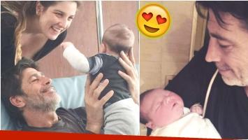 La tierna foto de Nicolás Repetto con su nieto Toribio (Fotos: Instagram)