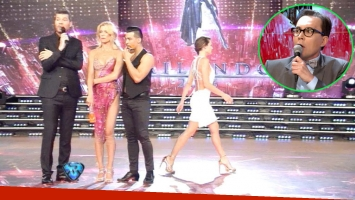 Pampita abandonó el estudio de ShowMatch (Fotos: Captura)