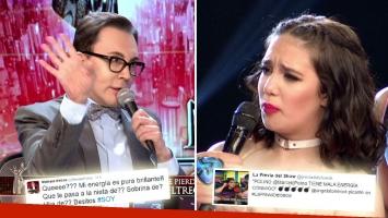 Fuerte cruce en vivo de Polino con Ángela Torres