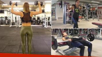 Jésica Cirio mostró sus súper curvas y su exigente entrenamiento. (Fotos: Instagram)