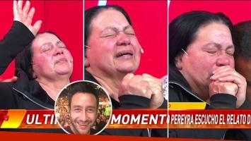 La emoción de la mujer que está convencida de ser la madre de Luciano Pereyra al enterarse de que se reunirían