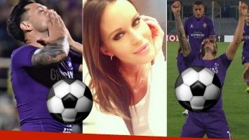 Mauro Zárate hizo dos goles y se los dedicó a Natalie Weber (Foto: web)