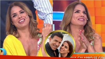 Marina Calabró contó en Intrusos que se comprometió con Martín Albrecht. Foto: Captura