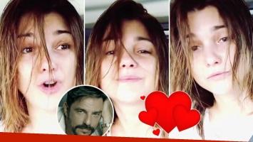 El divertido video de Araceli González cantando a cara lavada para Fabián Mazze.