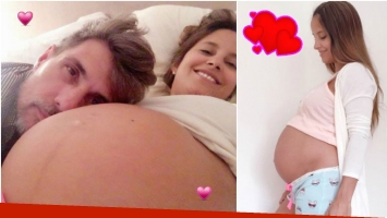 El tierno video de la panza de Lourdes Sánchez y el posteo del Chato Prada en Instagram (Fotos: Instagram)