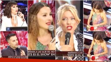 Así fue el reencuentro de Pampita y Nicole tras el escándalo en ShowMatch (Fotos: Captura)