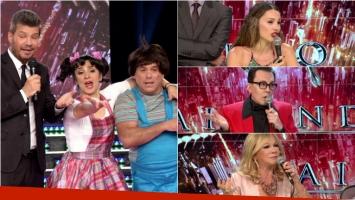 El Bicho Gómez y Anita Martínez se disfrazaron de niños en ShowMatch: el divertido momento. Foto: Captura