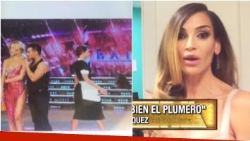 La reacción de María Vázquez cuando le mostraron un foto trucada de Pampita vestida de mucama (Foto: Captura)