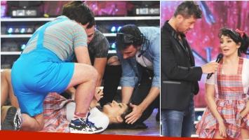 Anita Martínez se lesionó en ShowMatch y fue directo al voto telefónico (Fotos: Prensa Ideas del Sur)