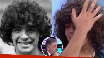 Santiago Lara, quien asegura ser hijo de Diego Maradona, se mostró en Nosotros a la Mañana