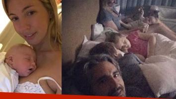 La tierna postal de Rocío Guirao Díaz en la cama con toda la familia. Foto: Instagram.