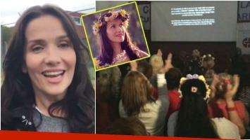 Natalia Oreiro proyectó la película Gilda en la cárcel de mujeres de Ezeiza (Pronto: Instagram)