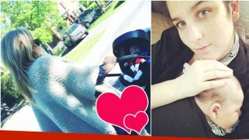 La tierna foto de Reina Reech paseando a su nieto en cochecito (Fotos: Instagram)