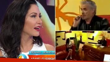 Adabel Guerrero, furiosa con Pettinato. Fotos: Capturas Intrusos.