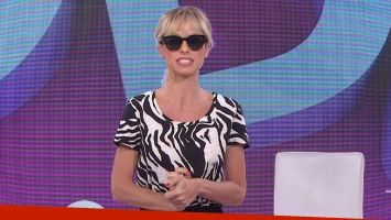 Mariana Fabbiani usó lentes oscuros para su programa del lunes. Fotos: Captura TV.