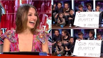 Los hijos de Pampita visitaron ShowMatch: el tierno cartel que le dedicaron