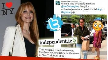 Alfano se encontró en Nueva York a Mathew McConaughey ¡y su graciosa reacción llegó a los medios internacionales! Foto: Twitter