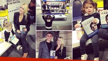 Francesca Icardi fue la fanática número uno en la presentación de la autobiografía de su padre.  (Foto: Instagram)