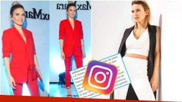 El descargo de Sofía Zámolo tras las críticas por una foto donde se la ve muy delgada (Fotos: Instagram)