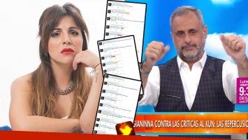 Gianinna Maradona llamó ¡en vivo! a Intrusos y explicó su noche de furia en Twitter