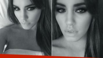 Lali Espósito, súper sensual, grabó dos videos desde la cama. Fotos: Capturas Instagram.