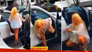 El video del escándalo callejero de María Eugenia Ritó
