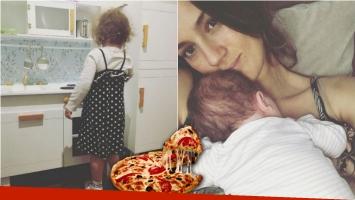 El tierno gesto de Olivia Alfonso a su hermanito recién nacido (Fotos: Instagram)
