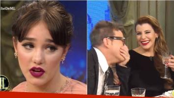 Ángela Torres se refirió en la mesa de Mirtha a la polémica con Charlotte Caniggia. Foto: Captura