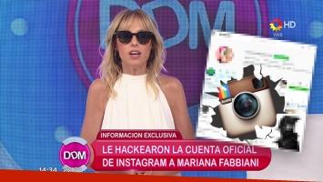Hackearon a Mariana Fabbiani