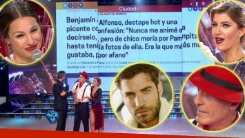 Las reacciones de Oscar Ruggeri y Pampita en ShowMatch cuando les leyeron las declaraciones de Benjamín Alfonso, el ¿ex? de Candela