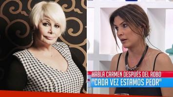 Carmen Barbieri, indignada tras ser asaltada y picante contrapunto con Úrsula Vargues