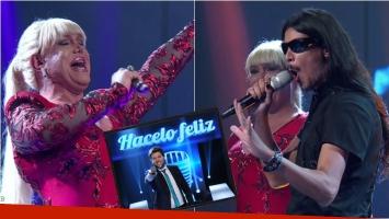 ¡A puro talento! El increíble duelo de dos imitadores de Valeria Lynch en el debut de Hacelo feliz, el nuevo ciclo de Guido Kaczka