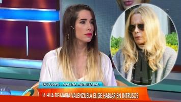 Malena contó los motivos de la depresión de María Valenzuela
