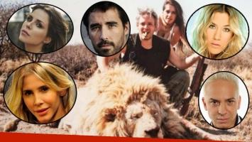 Los famosos, indignados tras la filtración de las fotos de Victoria Vannucci y Matías Garfunkel cazando (Fotos: redes sociales y Web)
