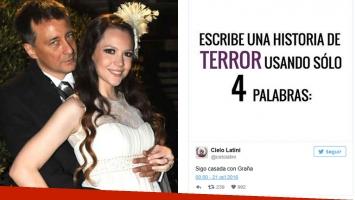 El mensaje de Cielo Latini para su ex, Rolando Graña. (Fotos: Web y Twitter)