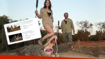 Vannucci y Garfunkel promocionan la caza de animales salvajes (Foto: web)