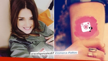 Araceli González presentó en Instagram su nuevo  tatuaje. Foto: Instagram