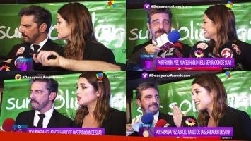 La reacción de Araceli González cuando le preguntaron por la separación de Suar y Siciliani.