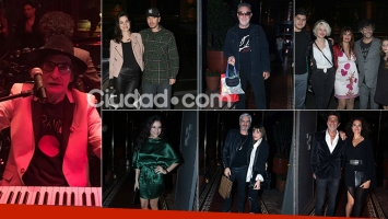 El cumple de Charly García con amigos famosos. Fotos: Movilpress.