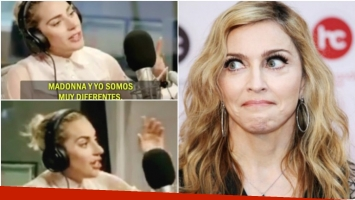 El enojo de Lady Gaga cuando la compararon con Madonna (Fotos: Captura y Web)